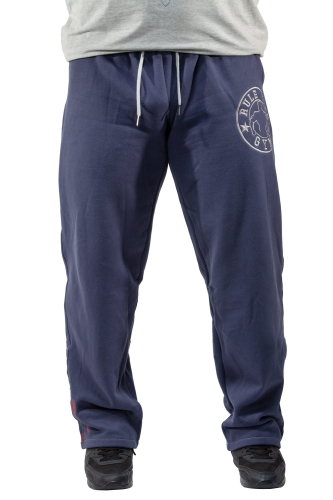 "Klassik-Sporthose, Baumwolle, ""Rule the Gym"", (jeans-blau)"