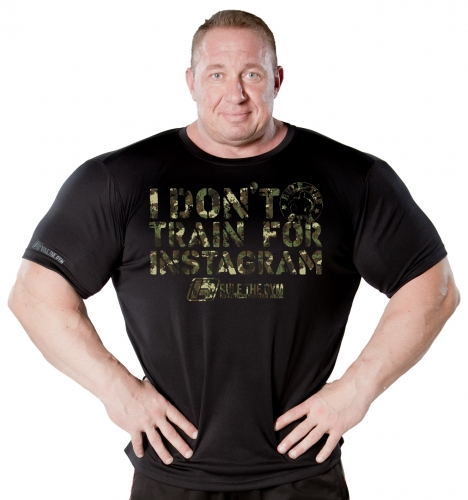 "T-Shirt ""I don't train for Instagram"" Camouflage-Edition [Thermo 