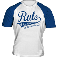 "Raglan T-Shirt Retro ""Weiß-blau"" [Thermo 